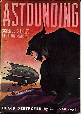Astounding July 1939 cover by Graves Gladney